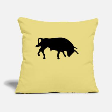 "Bull Bull, bull fighting, bull, spain - Throw Pillow Cover 18"" x 18"""