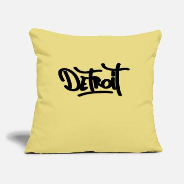 "Detroit detroit - Throw Pillow Cover 18"" x 18"""