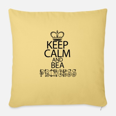 "Keep Calm And Be A Princess - Throw Pillow Cover 18"" x 18"""