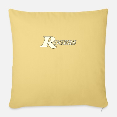 "Rogers Drums Rogers white color - Throw Pillow Cover 18"" x 18"""
