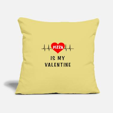 "Pizza is my valentine - Throw Pillow Cover 18"" x 18"""