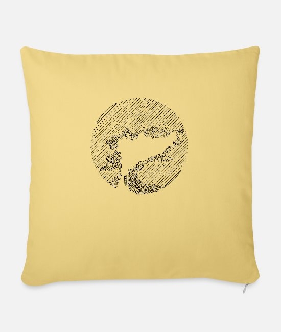 "Dream Pillow Cases - Mystic Tree - Throw Pillow Cover 18"" x 18"" washed yellow"
