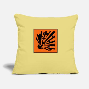 "Explosion Explosive - Throw Pillow Cover 18"" x 18"""