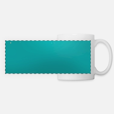 Pretty Teal Blue Holographic Glitter Gradient Pretty - Panoramic Mug