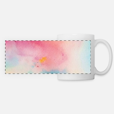 Luxury Pastel Rainbow Watercolor Abstract Painting - Panoramic Mug