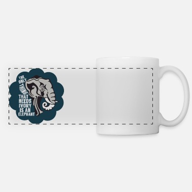 Anti Elephant Anti Poaching - Panoramic Mug
