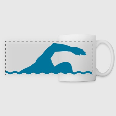 Swimming - Panoramic Mug