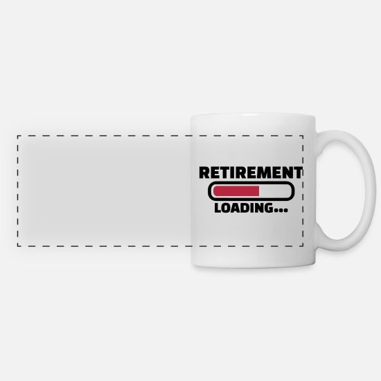 Retirement Mugs & Drinkware - Retirement - Panoramic Mug white