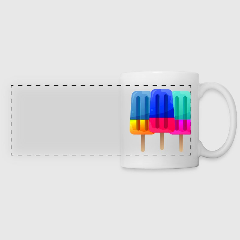 3 ice cream sticks - Panoramic Mug