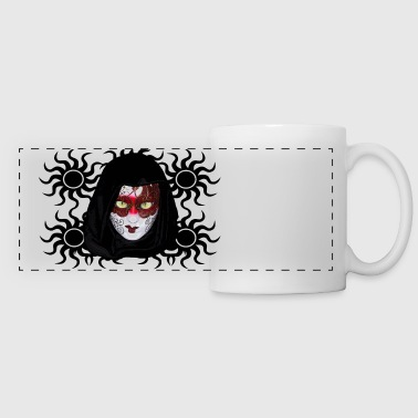 Scary Green eyes mask  2 - Panoramic Mug