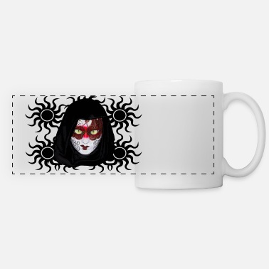 Mask Green eyes mask  2 - Panoramic Mug
