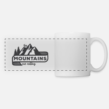 Mountains The Mountains Are Calling - Panoramic Mug