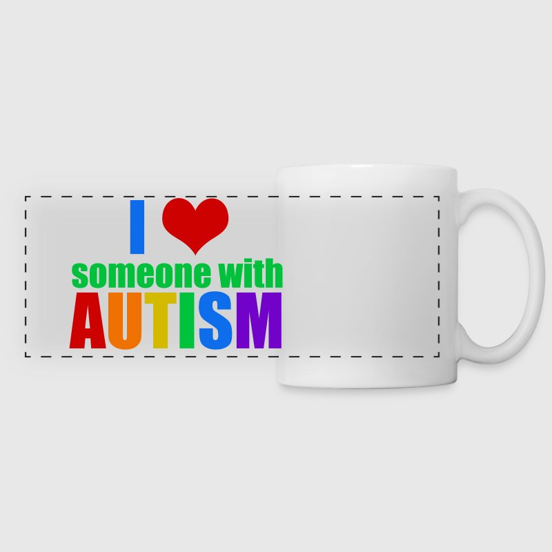 I Love Someone Autism - Panoramic Mug