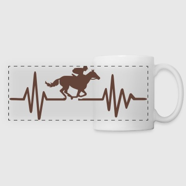 Horse race - Panoramic Mug