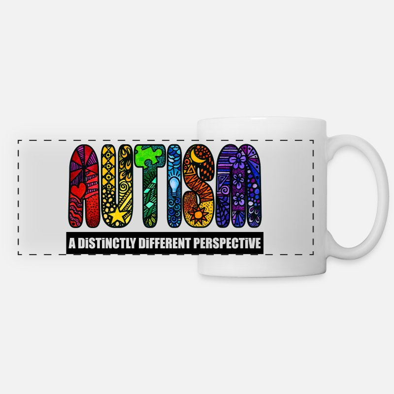 Special Mugs & Drinkware - BEST Autism Design - Panoramic Mug white