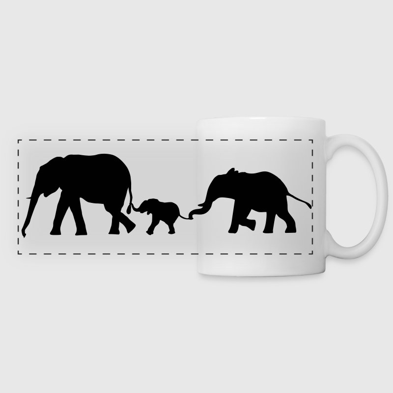 Elephants, Elephant - Panoramic Mug