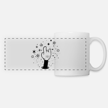 Rock&roll Mickey Rock and roll Hand sign Stars - Panoramic Mug