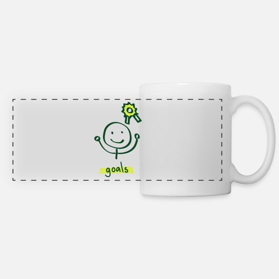Cute Dog Mugs & Drinkware - Goal On Way - Panoramic Mug white