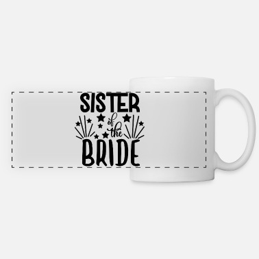Wedding Party love loversSister Of The Bride - Wedding Design - Panoramic Mug