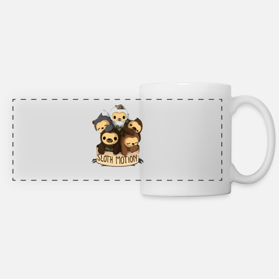 Game Mugs & Drinkware - SLOTH MOTION - Panoramic Mug white