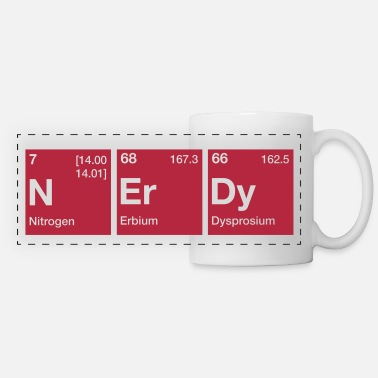 Word Nerdy Periodic Table Word - Panoramic Mug