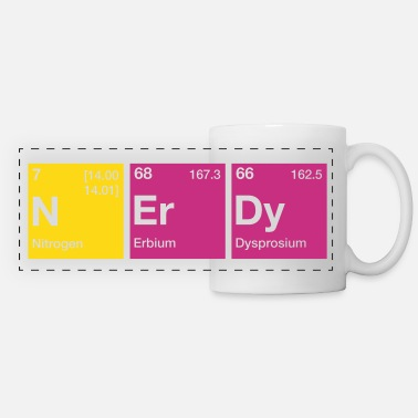 Chemistry Nerdy Periodic Table Word - Panoramic Mug