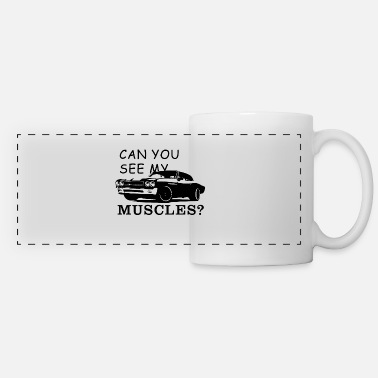 Muscle Can you see my muscles? Cool muscle car - Panoramic Mug