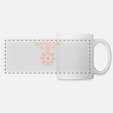 Greeting Namaste Yoga Pattern - Panoramic Mug