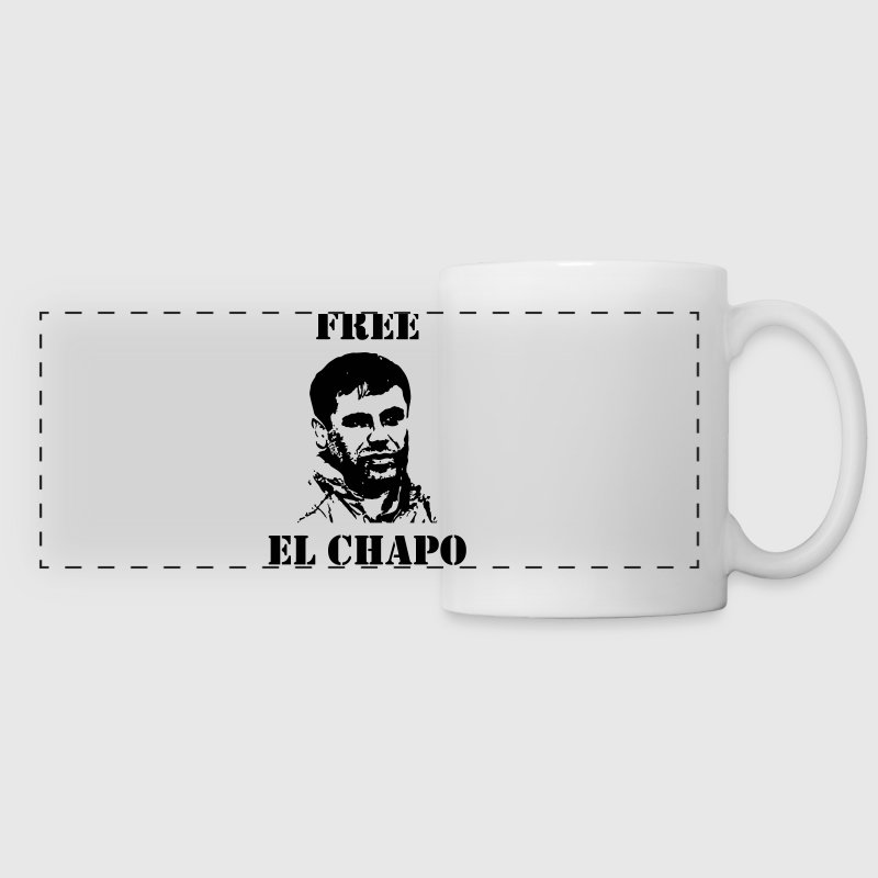 El Chapo / Humor / Drug / Drogue / Cannabis / Cool - Panoramic Mug