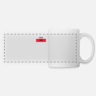 Power Press Press Power Gaming Console Gamer Button - Panoramic Mug