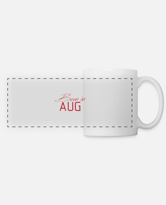 Born To Grill Mugs & Cups - Born in August Birthday present - Panoramic Mug white