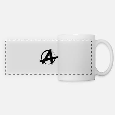 Anarchy Punk punk anarchy symbol sign - Panoramic Mug