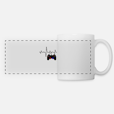 Gamer Heartbeat Shirt Video Game Lover Gift Shirt Mouse pad Horizontal -  white