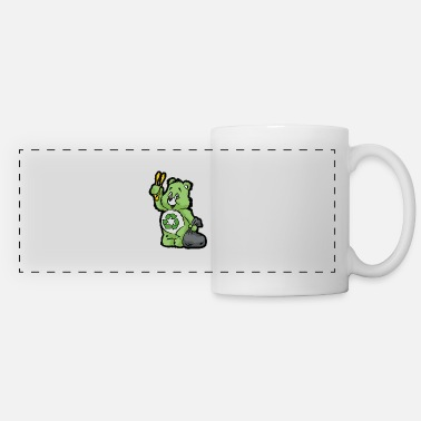 Enviromental TEDDY BEAR RECYCLE RECYCLING TRASH ENVIROMENTAL - Panoramic Mug