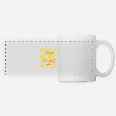 Reef Spent Money Save The Coral Reefs Scuba Diver Gift - Panoramic Mug