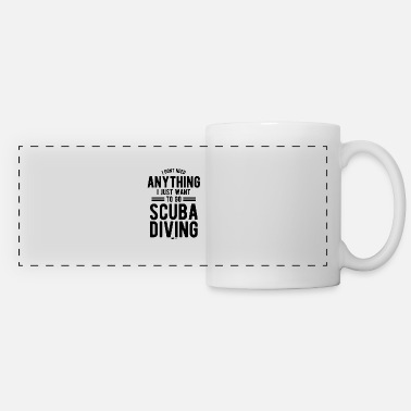 Scuba Diving Fin Sport saying gift - Panoramic Mug