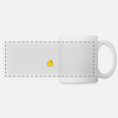 Duck Yellow rubber duck drawing sketch - Panoramic Mug