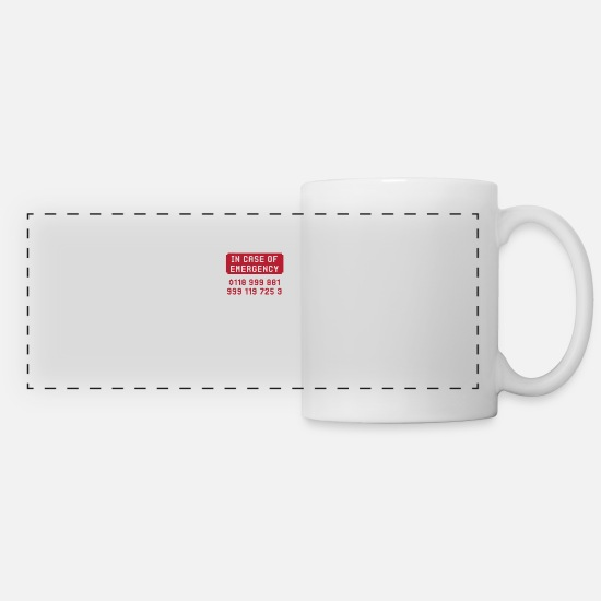 Movie Mugs & Drinkware - In Case Of Emergency - Panoramic Mug white