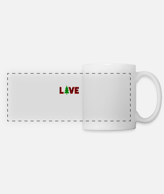 Loved Mugs & Cups - Christmas Love - Panoramic Mug white