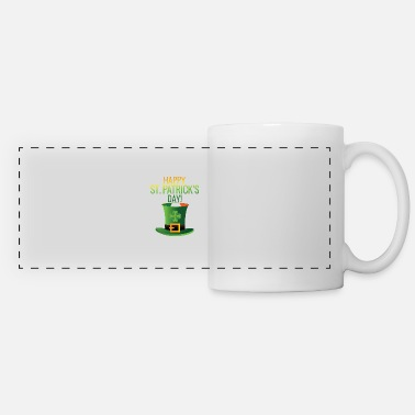 Flag Happy St Patricks Day Irish Flag Shamrock Top Hat - Panoramic Mug