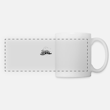 Steam Steam Engine Classic Vintage Retro Train Conductor - Panoramic Mug