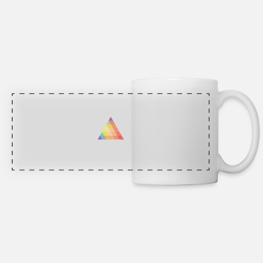 Ramdas Colored Triangle - Rhombus - Geometric - Panoramic Mug