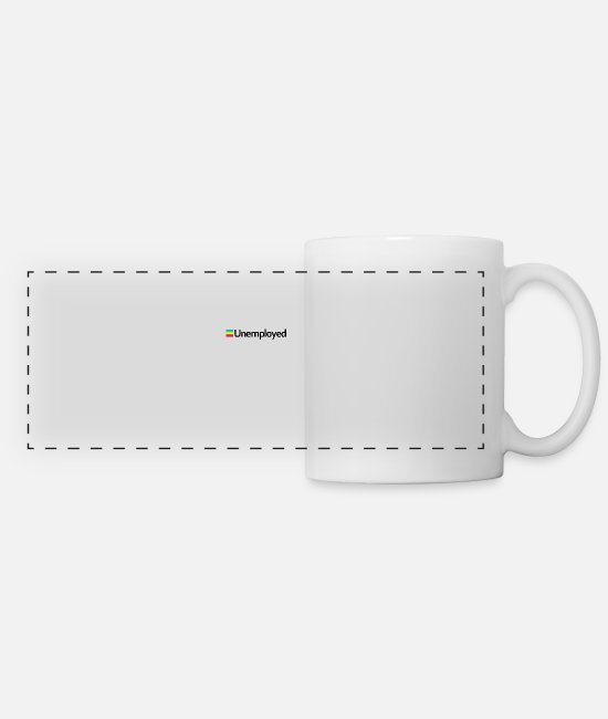 Hipster Mugs & Cups - Polaroid - Unemployed - Panoramic Mug white