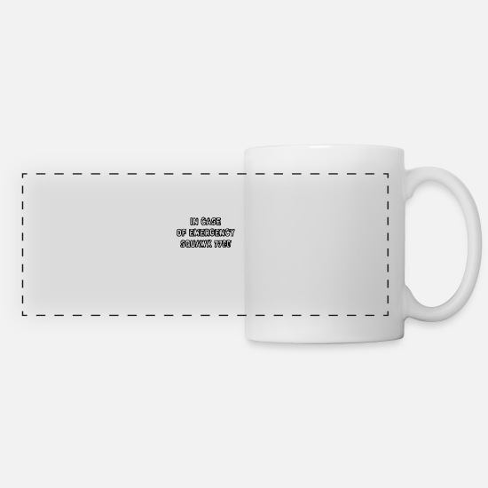 Traffic Mugs & Drinkware - In Case Of Emergency Squawk 7700 - Panoramic Mug white