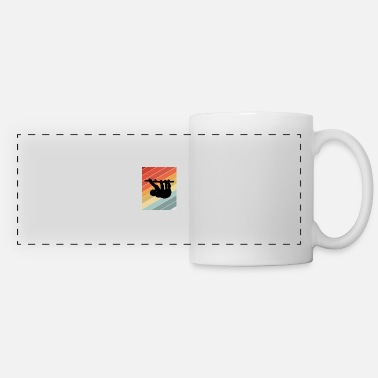 Animal Love Retro Sloth Animal Gift Idea - Panoramic Mug