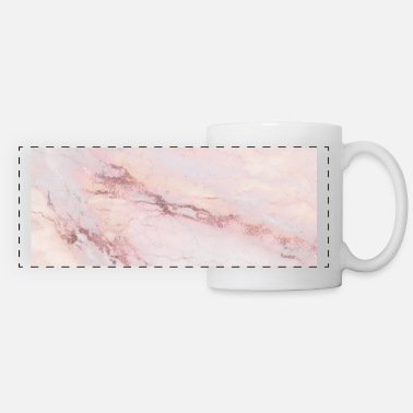 Gold Rose Gold Pink Marble - Panoramic Mug