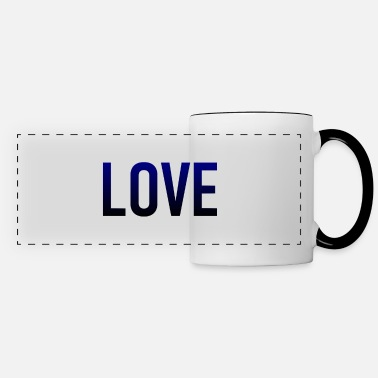 Love - lovely - heart - loving - romance - Panoramic Mug