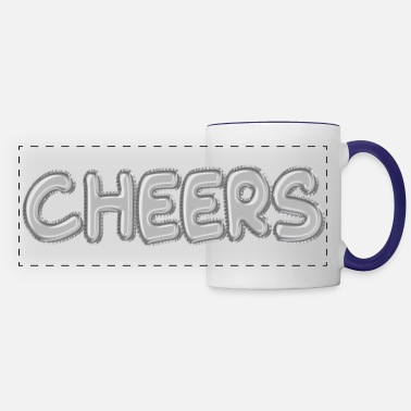 Speech Balloon Cheers Silver Foil Balloons - Panoramic Mug