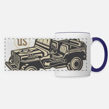 Army Vintage American Legend | Jeep | US Army - Panoramic Mug