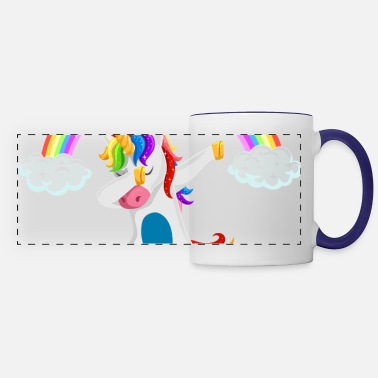 Easton Easton dabbing unicorn gift idea disco - Panoramic Mug